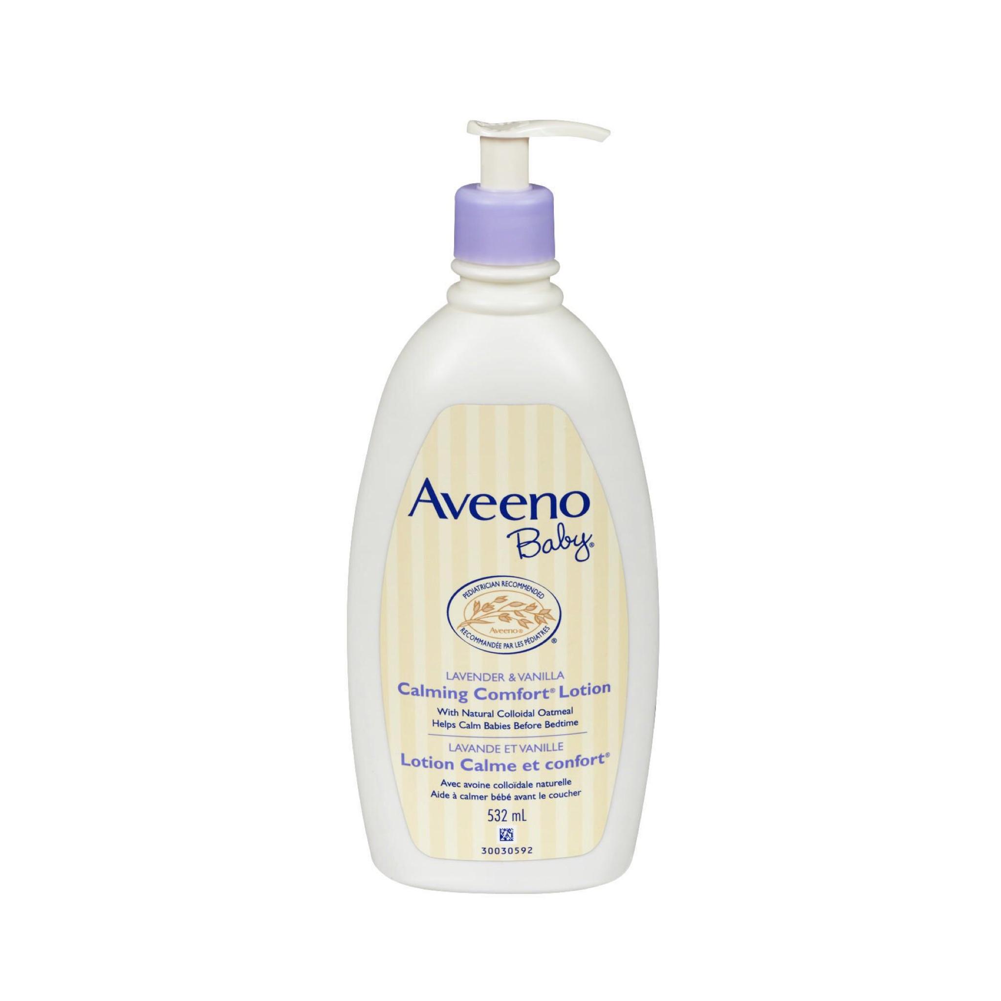 โลชั่นบำรุงผิวจากส่วนผสมของธรรมชาติ Aveeno Baby Calming Comfort Lotion - Lavender & Vanilla