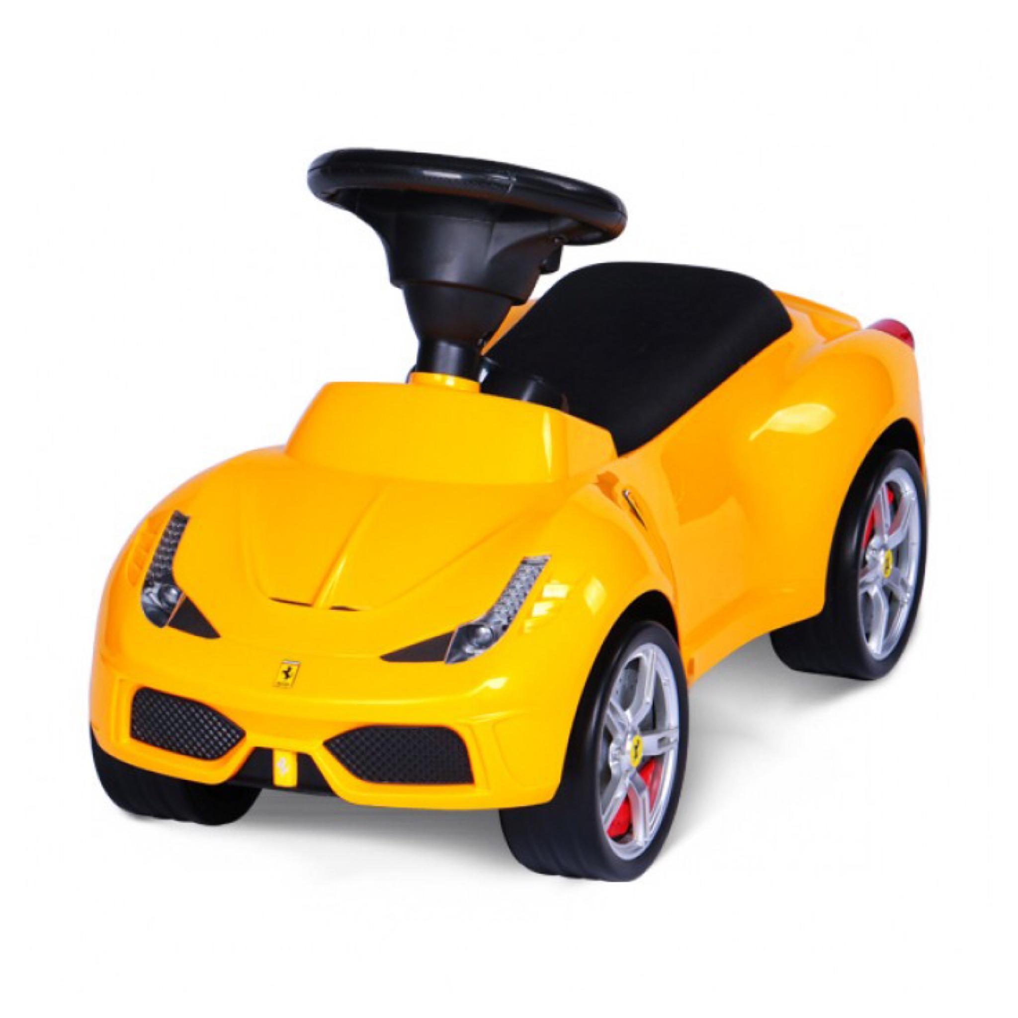 รถเฟอร์รารี่ขาไถสุดหรู Rastar Ferrari 458 Speciale A Foot-to-Floor Push Car (Yellow)