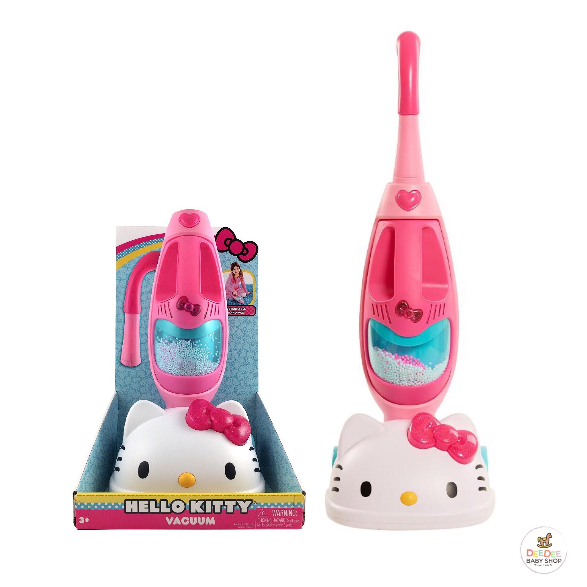 เครื่องดูดฝุ่นจำลองแสนน่ารัก Just Play Hello Kitty Vacuum Cleaner Playset