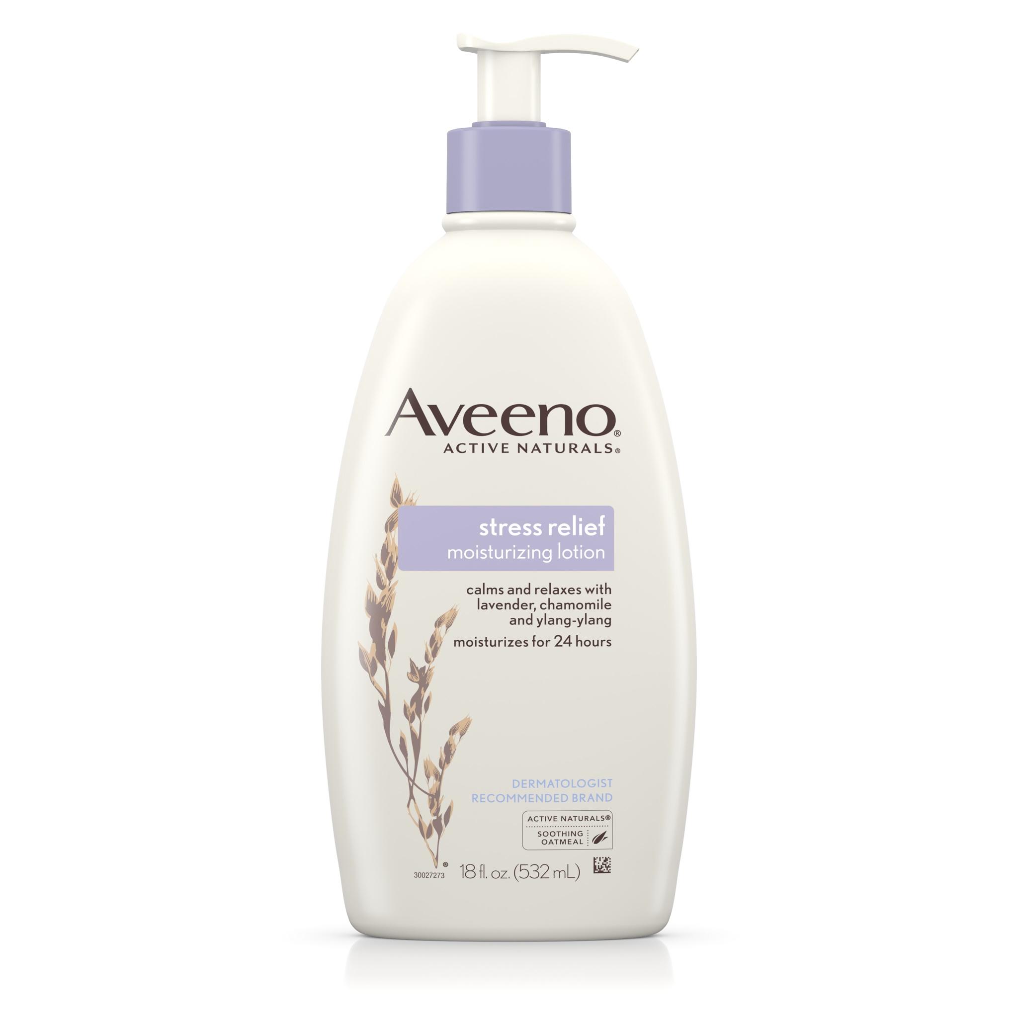 โลชั่นบำรุงผิวพร้อมผ่อนคลายความตึงเครียด Aveeno Stress Relief Moisturizing Lotion