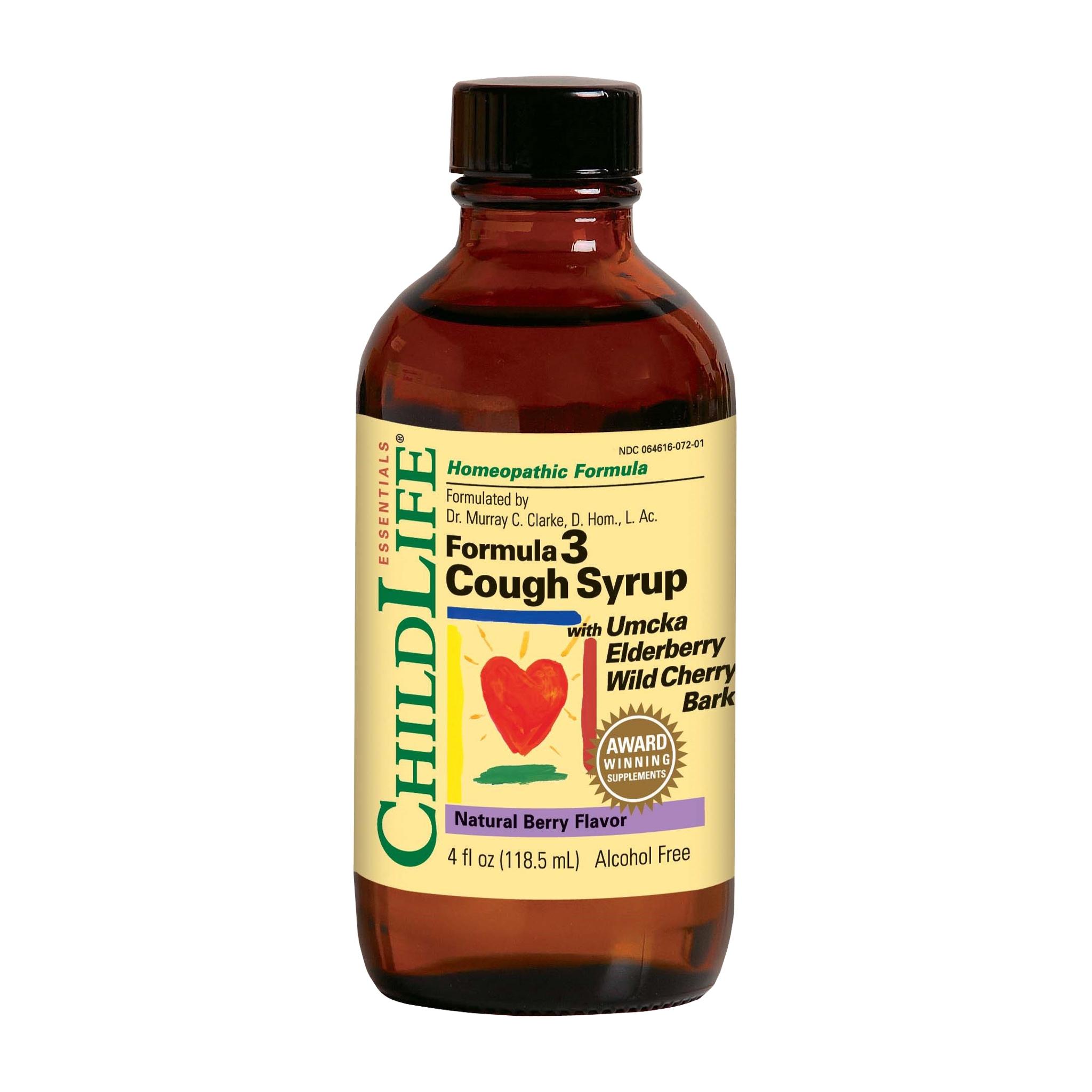 สมุนไพรบรรเทาอาการไอสำหรับเด็ก ChildLife Essentials Formula 3 Cough Syrup