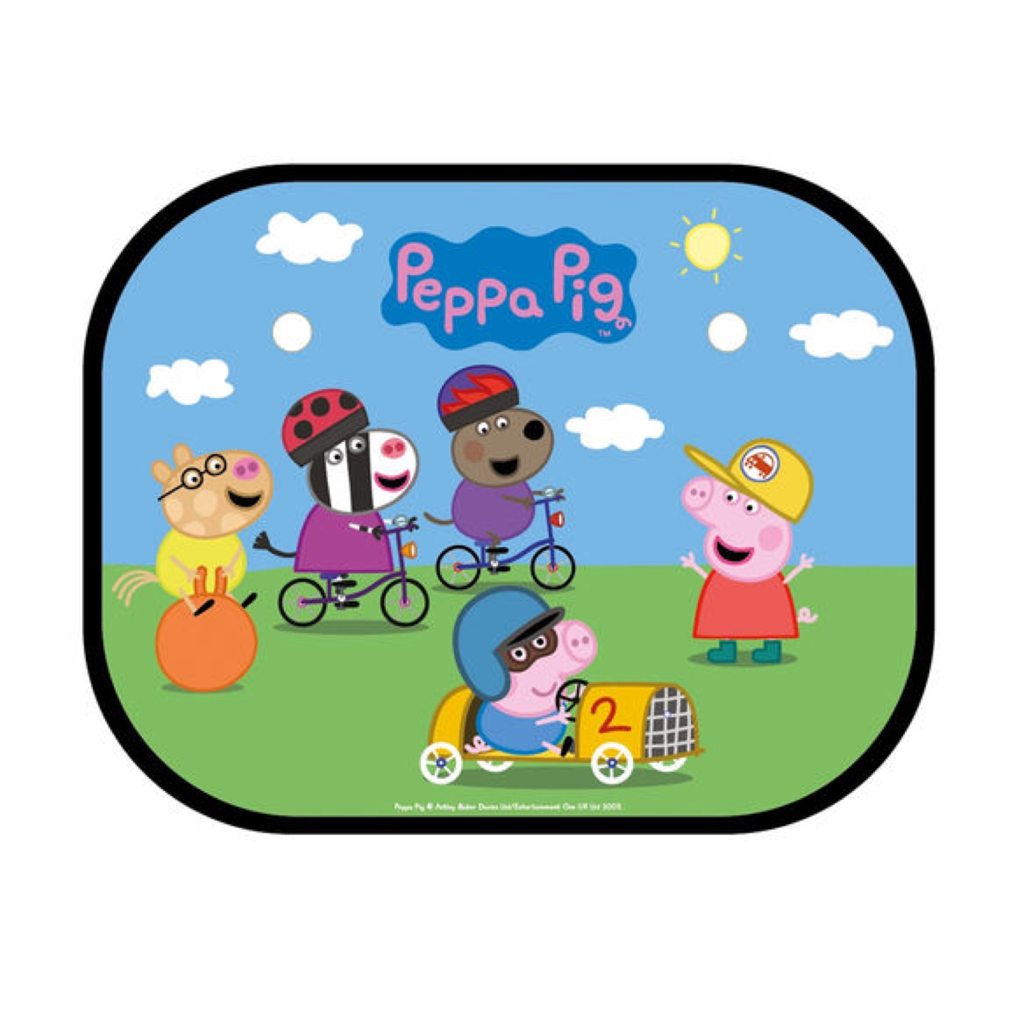 ม่านบังแดดแบบพับได้สุดน่ารัก Peppa Pig Folding Window Sunshades (Pack of 2) (Peppa, George & Friends)