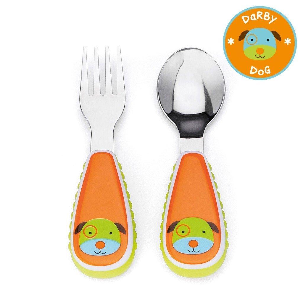 ชุดช้อนและส้อมสำหรับเด็กสุดน่ารัก Skip Hop รุ่น Zootensils Little Kids Fork & Spoon (Dog)