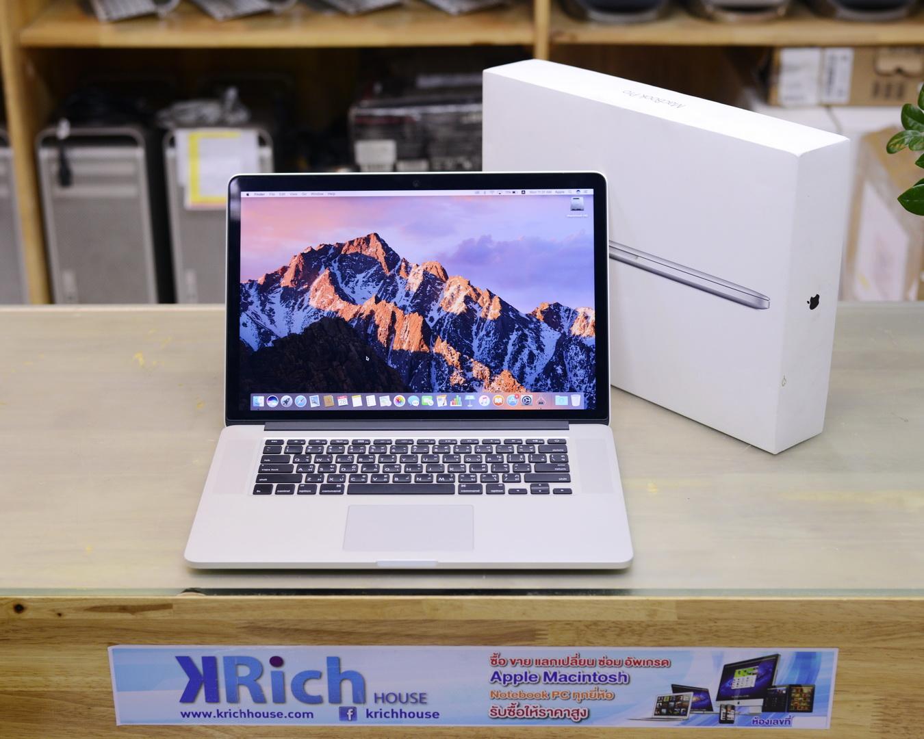 MacBook Pro (Retina 15-inch Mid 2014) Quad-Core i7 2.2GHz RAM 16GB SSD 256GB - Fullbox