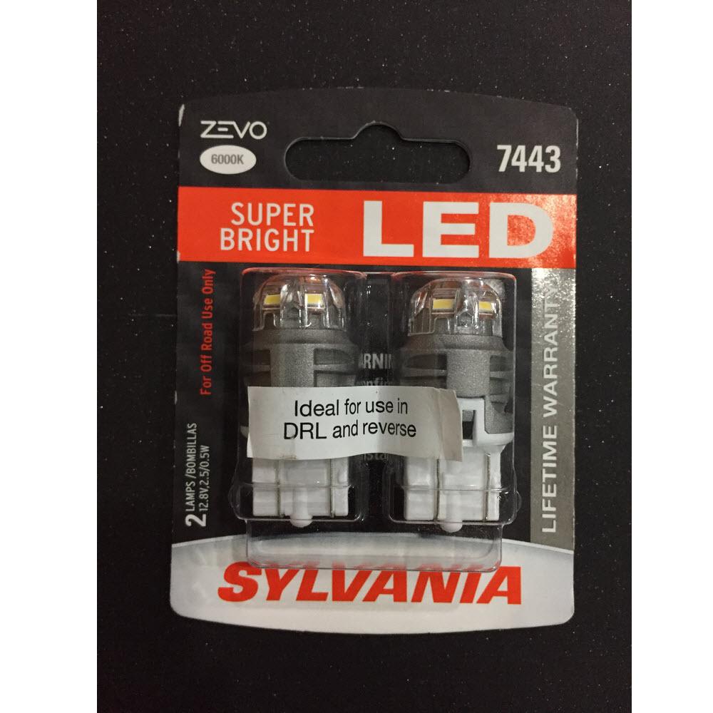 T20 W21/5W Sylvania ZEVO Super Bright LED 6000K ส่งฟรี EMS