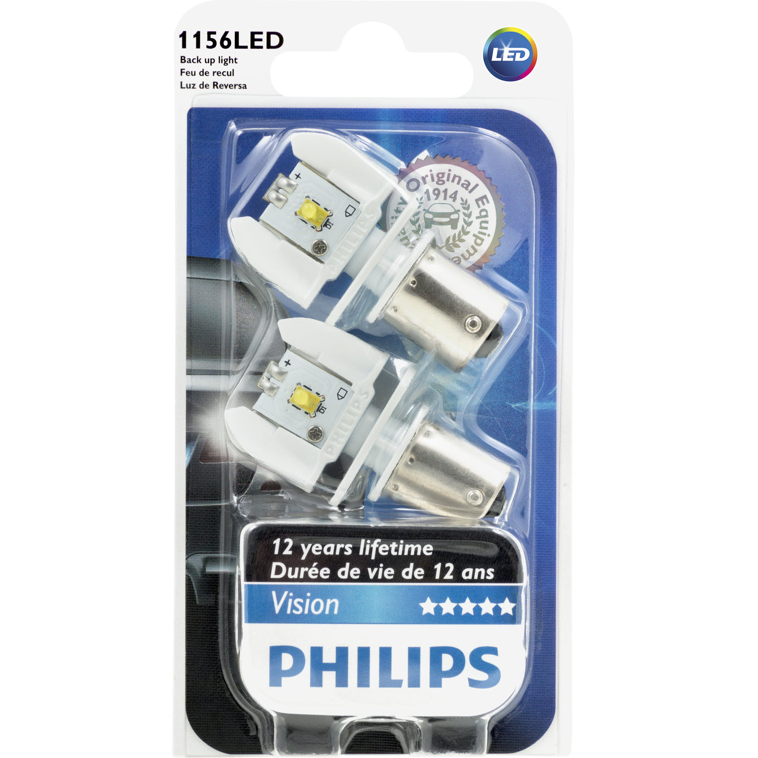 P21W Philips Vision LED 6000K ส่งฟรี