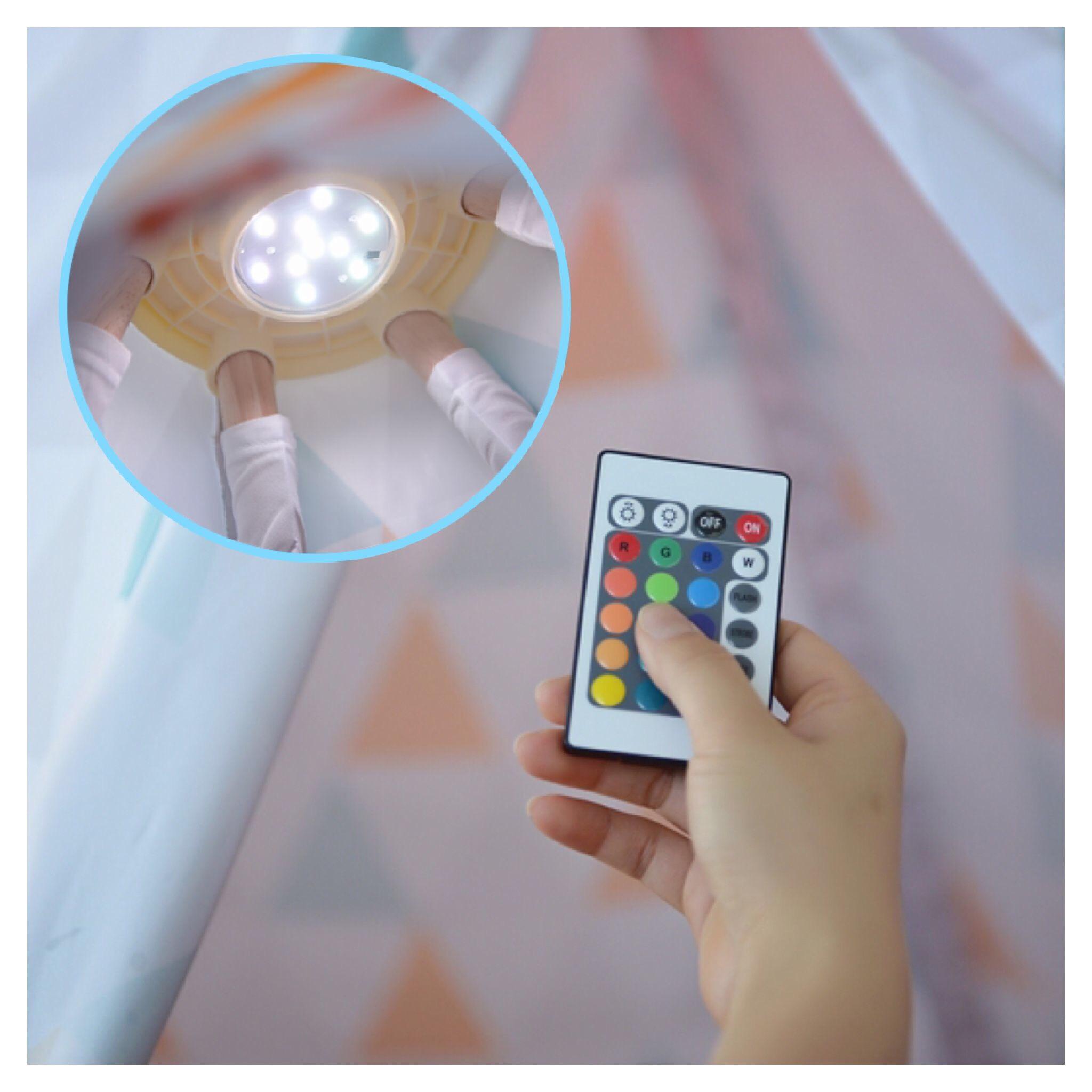ไฟส่องสว่างพร้อมรีโมทคอนโทรล LOOKA Tent RGB LED-Light