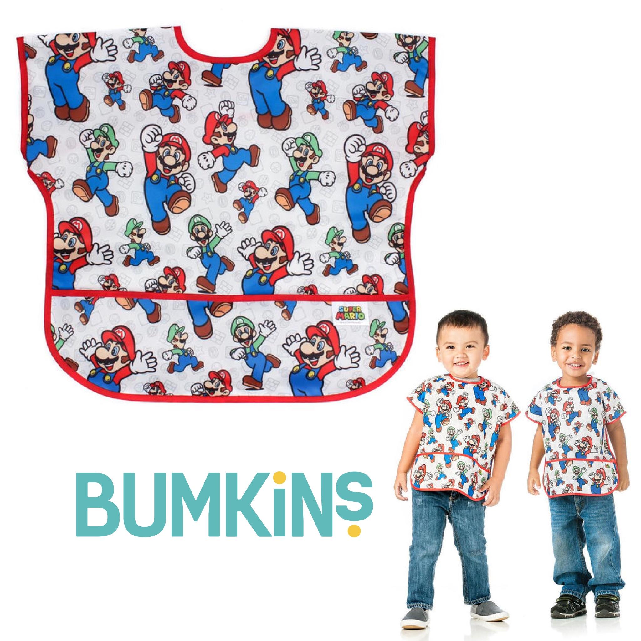 ผ้ากันเปื้อนปลอดสารพิษสำหรับเด็ก BUMKINS Nintendo Junior Bib (Super Mario & Luigi)