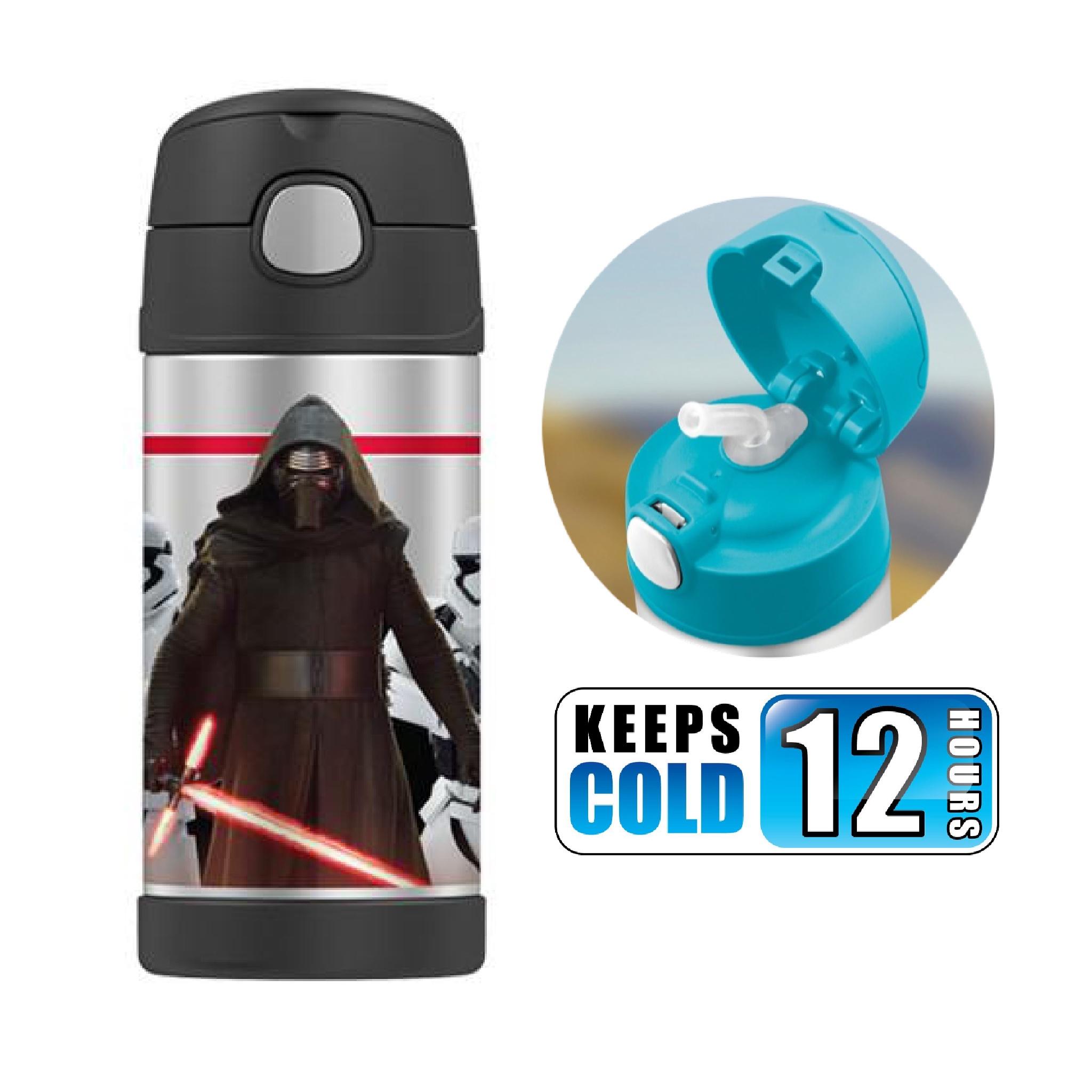 กระติกน้ำสเตนเลสรักษาอุณหภูมิ Thermos FUNtainer Vacuum Insulated Stainless Steel Bottle 12OZ (Star Wars Episode VII Kylo Ren)