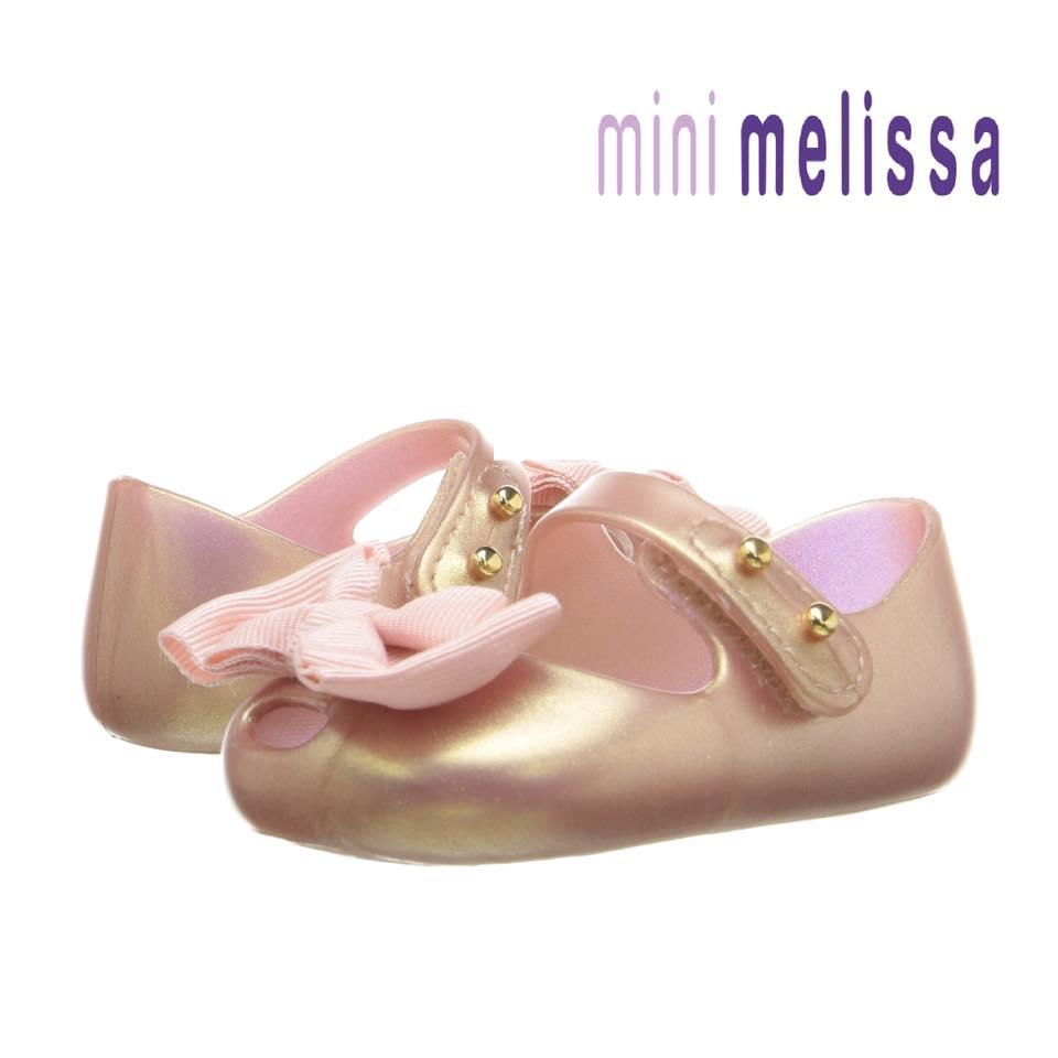 รองเท้าสุดหรูสำหรับเจ้าหญิงตัวน้อย Mini Melissa My First Mini Melissa - MASHUP! (Rose Gold)