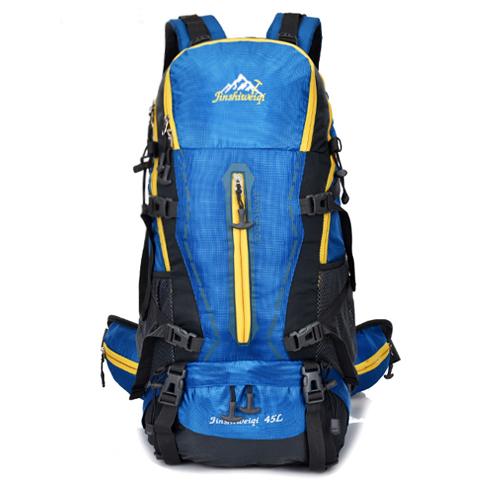 NL12 กระเป๋าเดินทาง สีน้ำเงิน ขนาด 45 ลิตร (เสริมโครง)