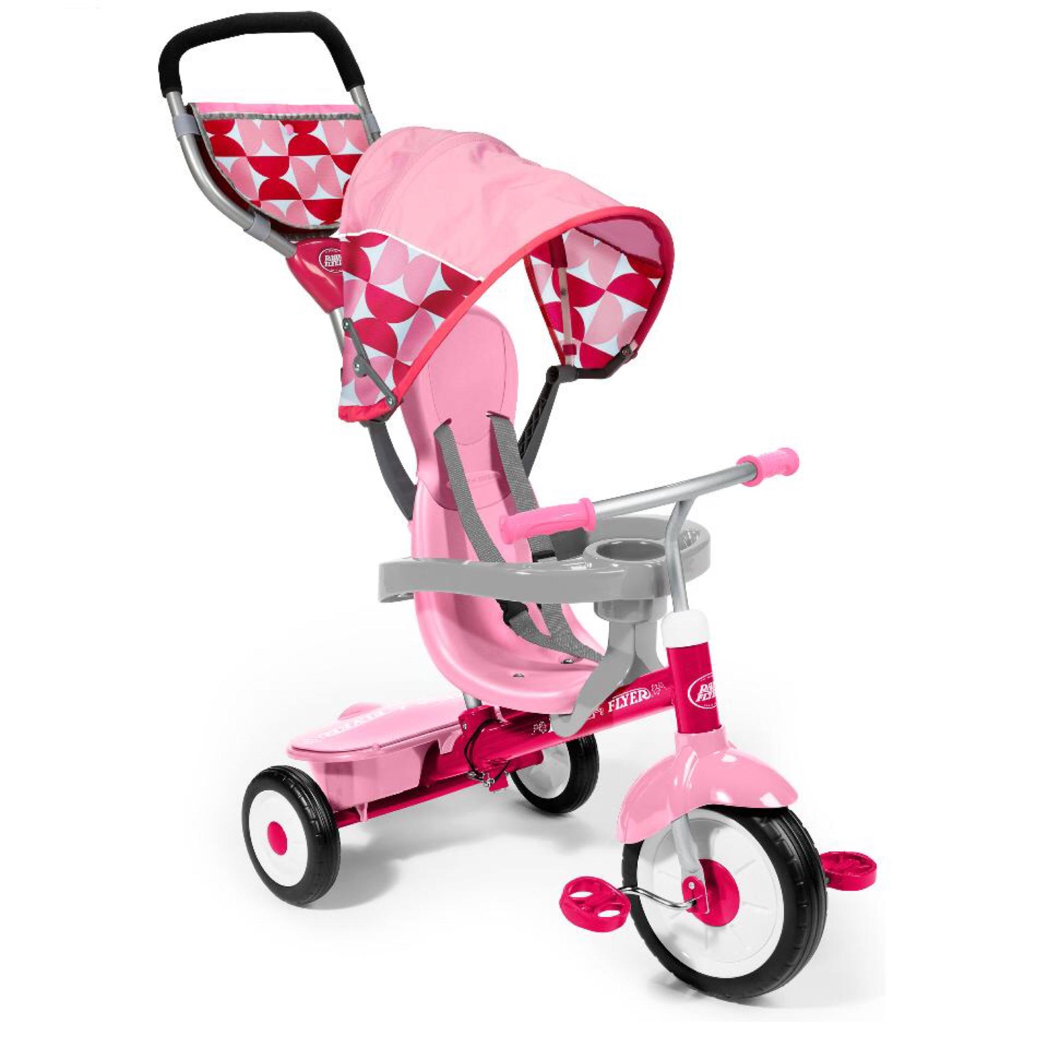 จักรยานสามล้อเอนกประสงค์ Radio Flyer 4-in-1 Stroll 'n Trike (Pink Floral - Limited Edition)
