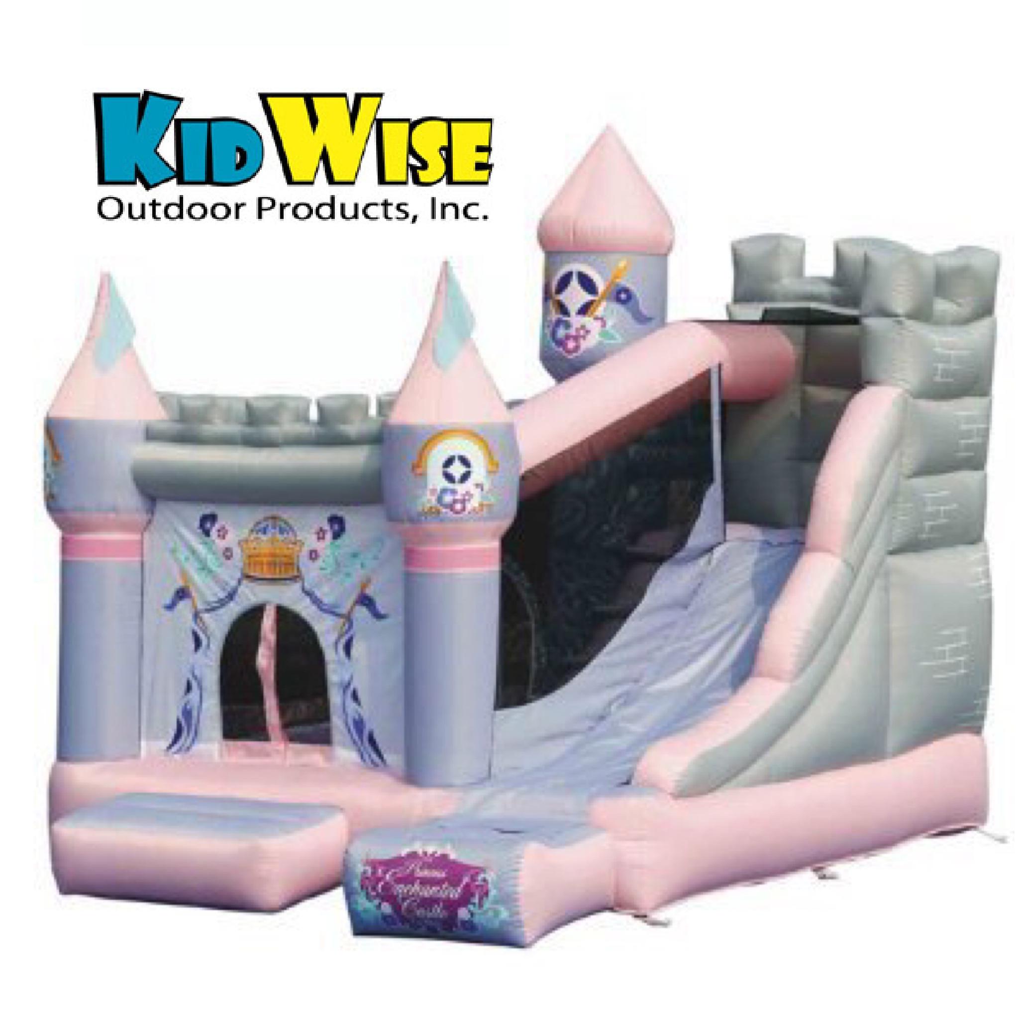 ปราสาทเจ้าหญิงกระโดดดึ๋งสุดอลังการ KidWise Enchanted Princess Castle with Slide Bounce House