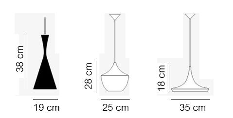 โคมไฟเพดาน โคมไฟห้อย โคมไฟแต่งบ้าน ขนาดโคมไฟ