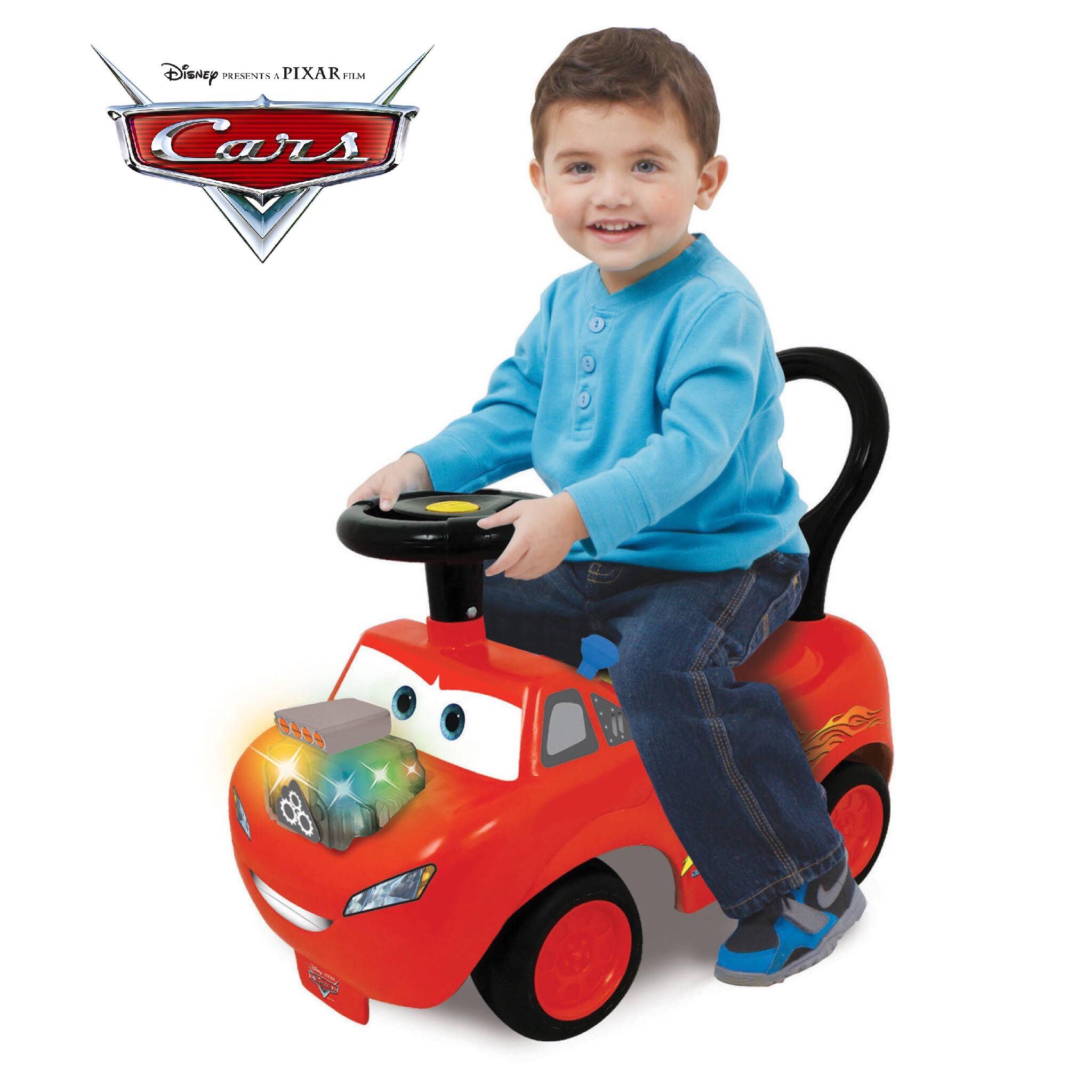 รถขาไถแสนสนุกสุดน่ารักสำหรับเด็กเล็ก Kiddieland รุ่น Disney / Pixar Cars Lightning McQueen Light and Sound Activity Ride-On