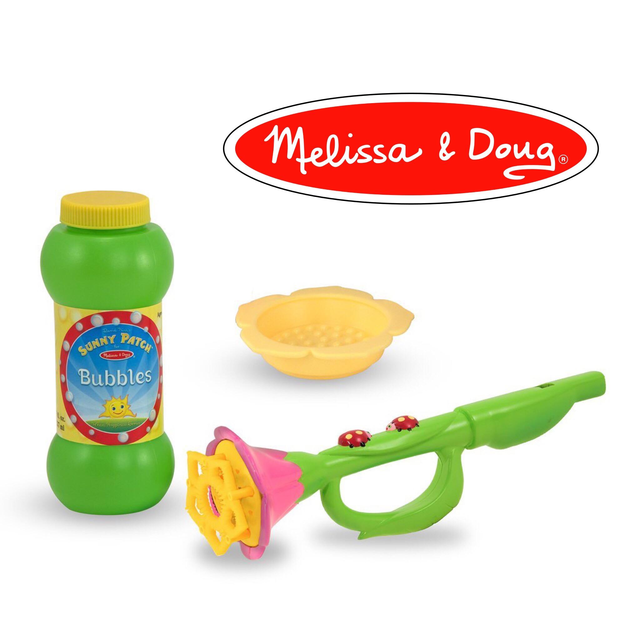 ชุดเป่าฟองสบู่ Melissa & Doug Sunny Patch - Blossom Bright Bubble Trumpet