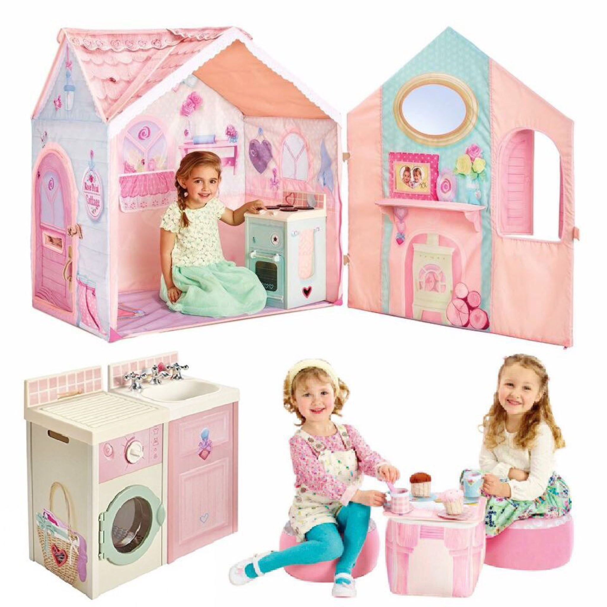 บ้านจำลองสไตล์อังกฤษแสนหวานพร้อมชุดของเล่น DreamTown Rose Petal Play Set (3Pcs.) สุดคลาสสิค เล่นสนุก ส่งเสริมจินตนาการ ครบครันแบบไม่ต้องซื้อเพิ่มแล้ว ดีที่สุดสำหรับลูกน้อย นำเข้าจาก UK ของแท้ 100% บ้านหลังน้อยสไตล์ยุโรปคลาสสิคสำหรับเด็กๆ ออกแบบอย่างพิถีพิ