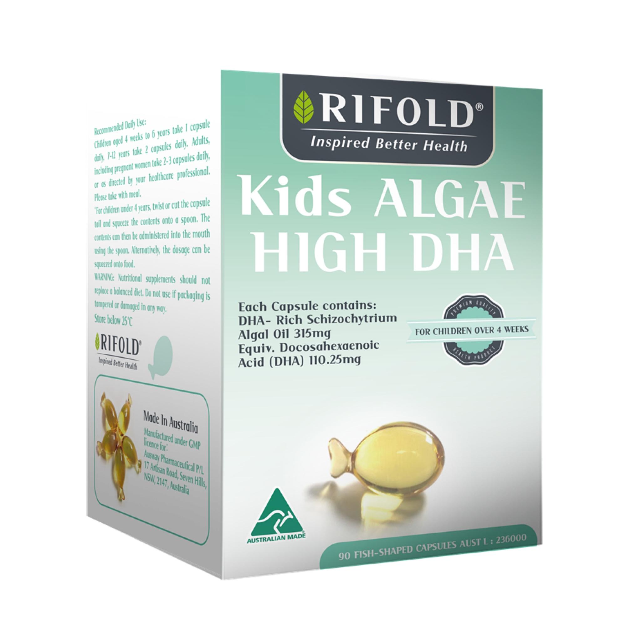 วิตามินบำรุงสมองและระบบประสาท RIFOLD Kids Algae High DHA