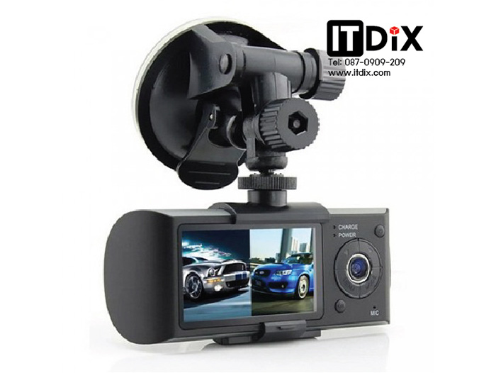 กล้องติดรถยนต์ R300 HD DVR 2 เลนส์+GPS