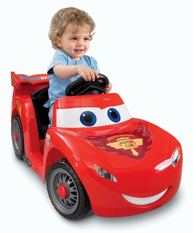 รถแบตเตอรี่สุดน่ารักสำหรับเด็กเล็ก Fisher-Price Power Wheels Disney Cars2 Lil' Lightning McQueen 6V