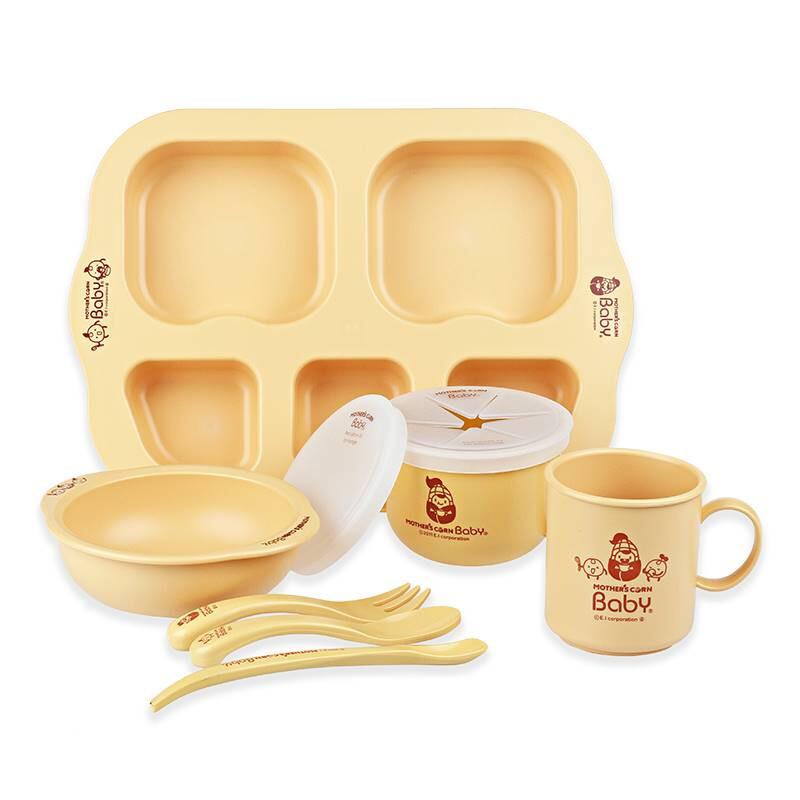 ชุดอุปกรณ์รับประทานอาหารจากข้าวโพดปลอดสารพิษ Mother's Corn Baby Complete Growing Up Set