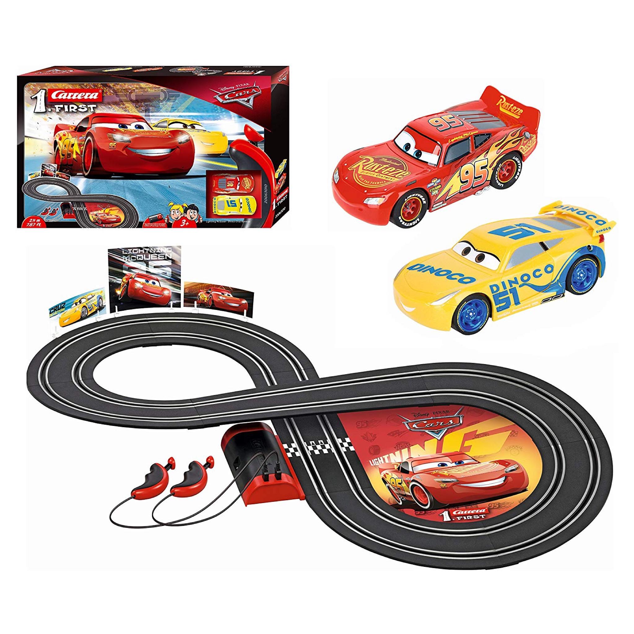 ชุดสนามแข่งรถอัตโนมัติ Carrera First Disney Pixar Cars 3 Slot Car Set