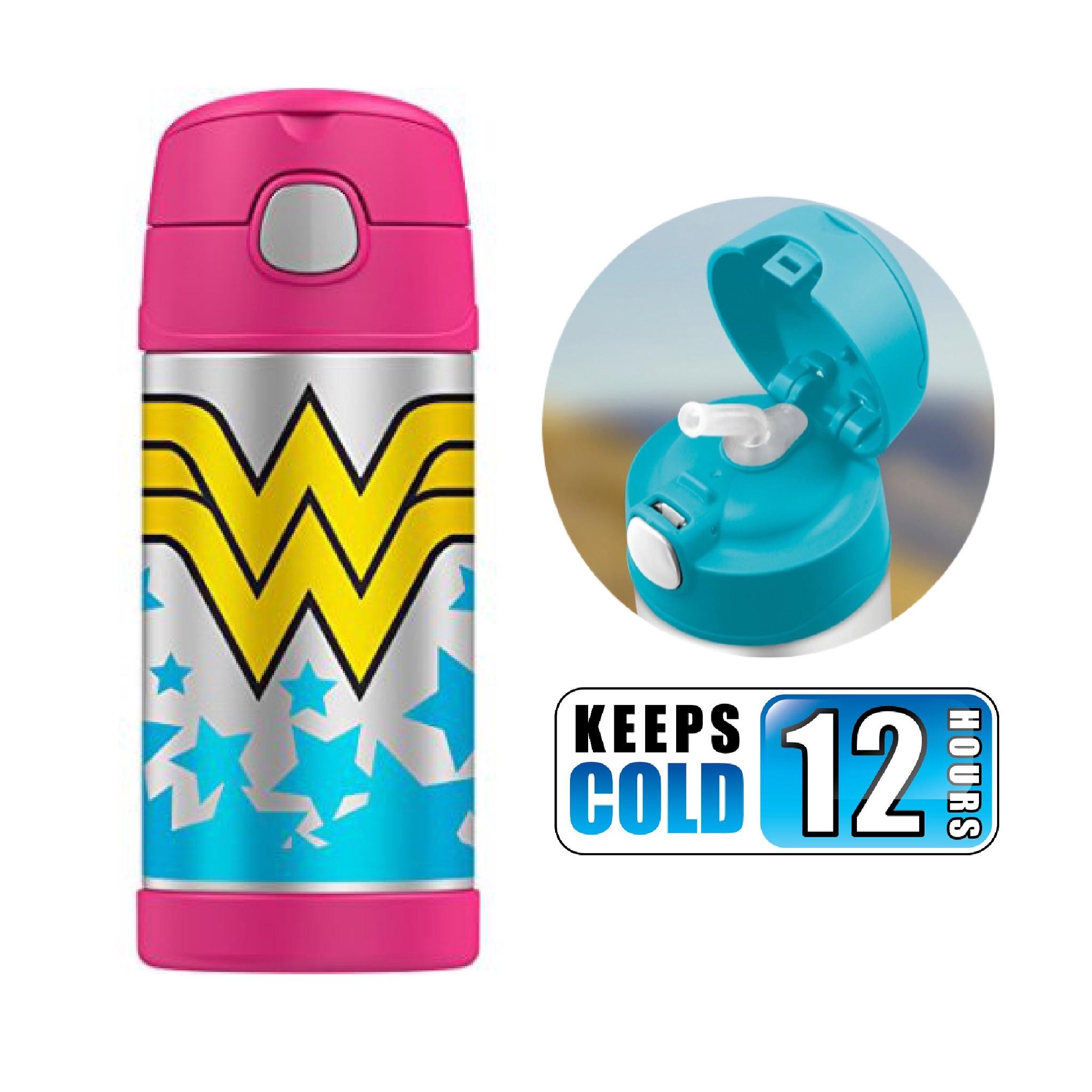 กระติกน้ำสเตนเลสรักษาอุณหภูมิ Thermos FUNtainer Vacuum Insulated Stainless Steel Bottle 12OZ (Wonder Woman)