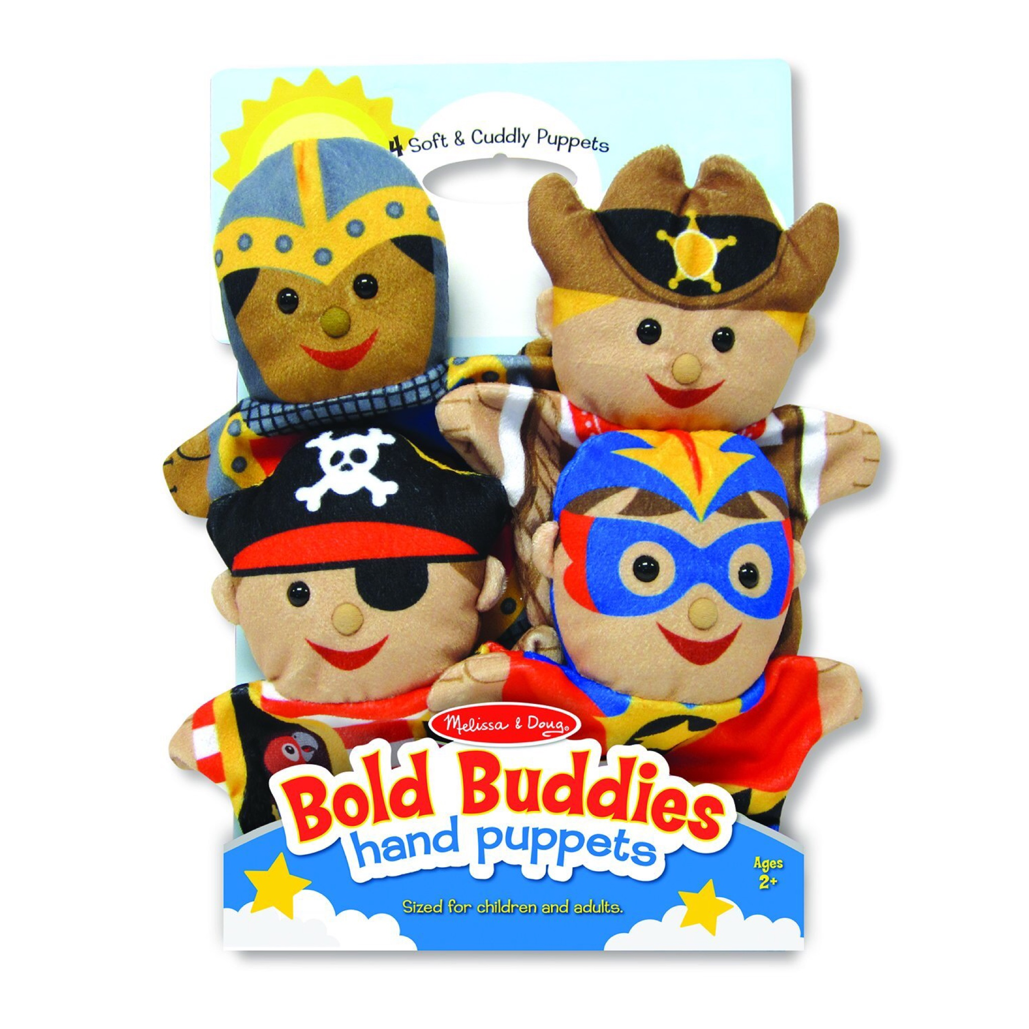 ชุดตุ๊กตาหุ่นมือ Melissa & Doug Hand Puppets (Bold Buddies)