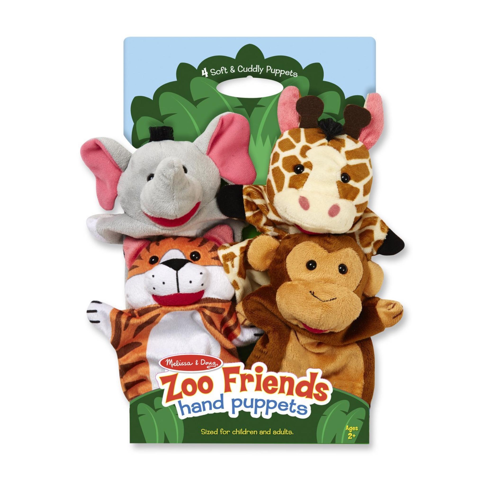 ชุดตุ๊กตาหุ่นมือ Melissa & Doug Hand Puppets (Zoo Friends)