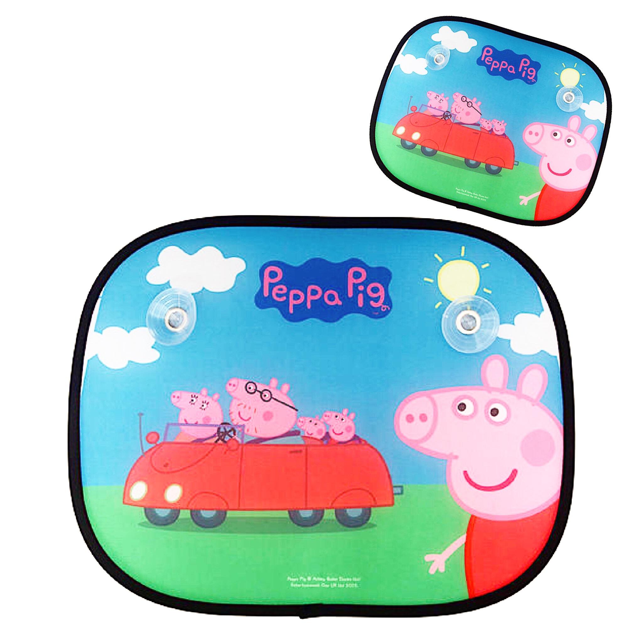 ม่านบังแดดแบบพับได้สุดน่ารัก Peppa Pig Folding Window Sunshades (Pack of 2) (Peppa's Family)