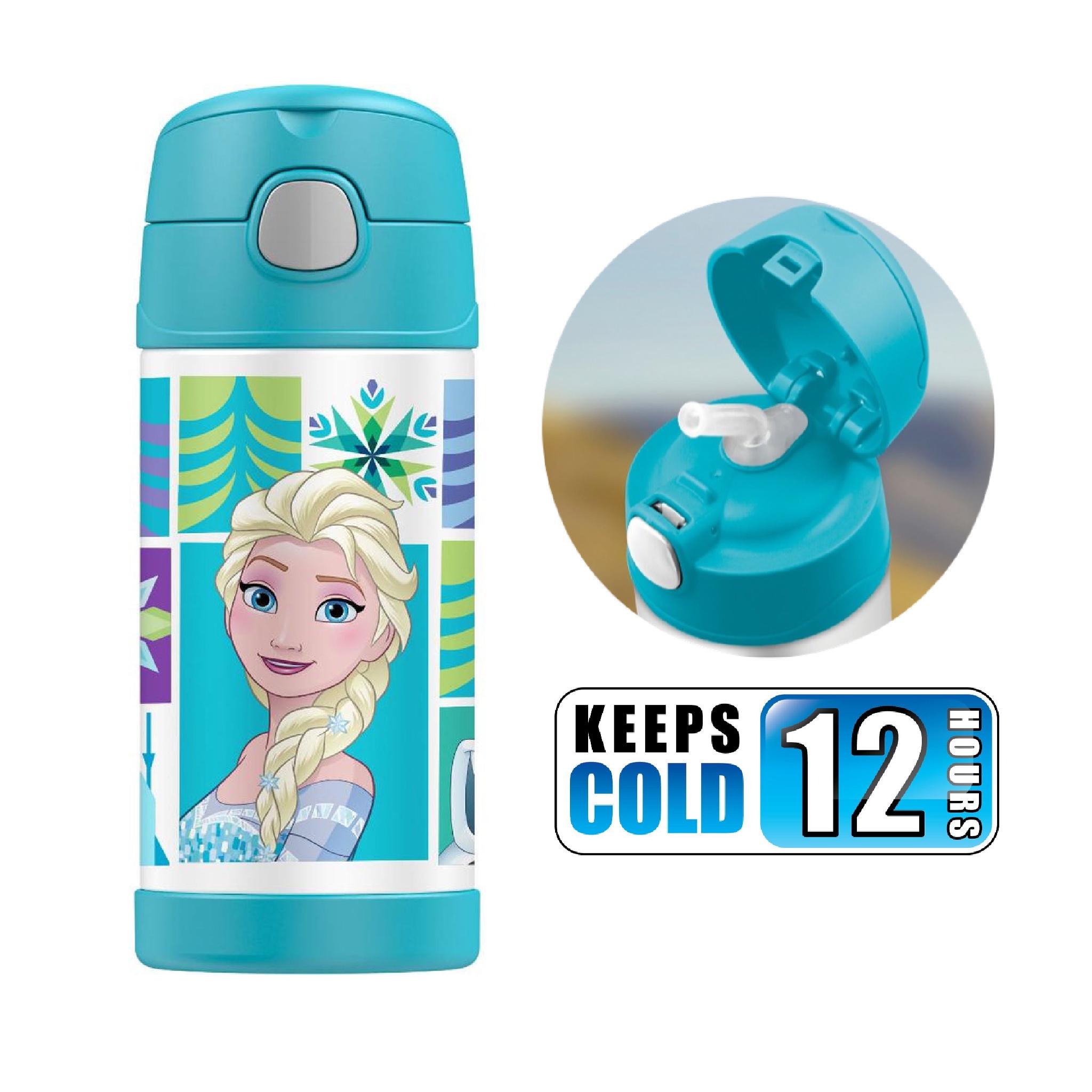 กระติกน้ำสเตนเลสรักษาอุณหภูมิ Thermos FUNtainer Vacuum Insulated Stainless Steel Bottle 12OZ (Frozen Aqua2)