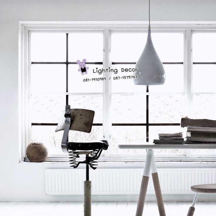 โคมไฟระย้า รูปหยดน้ำ สีขาว