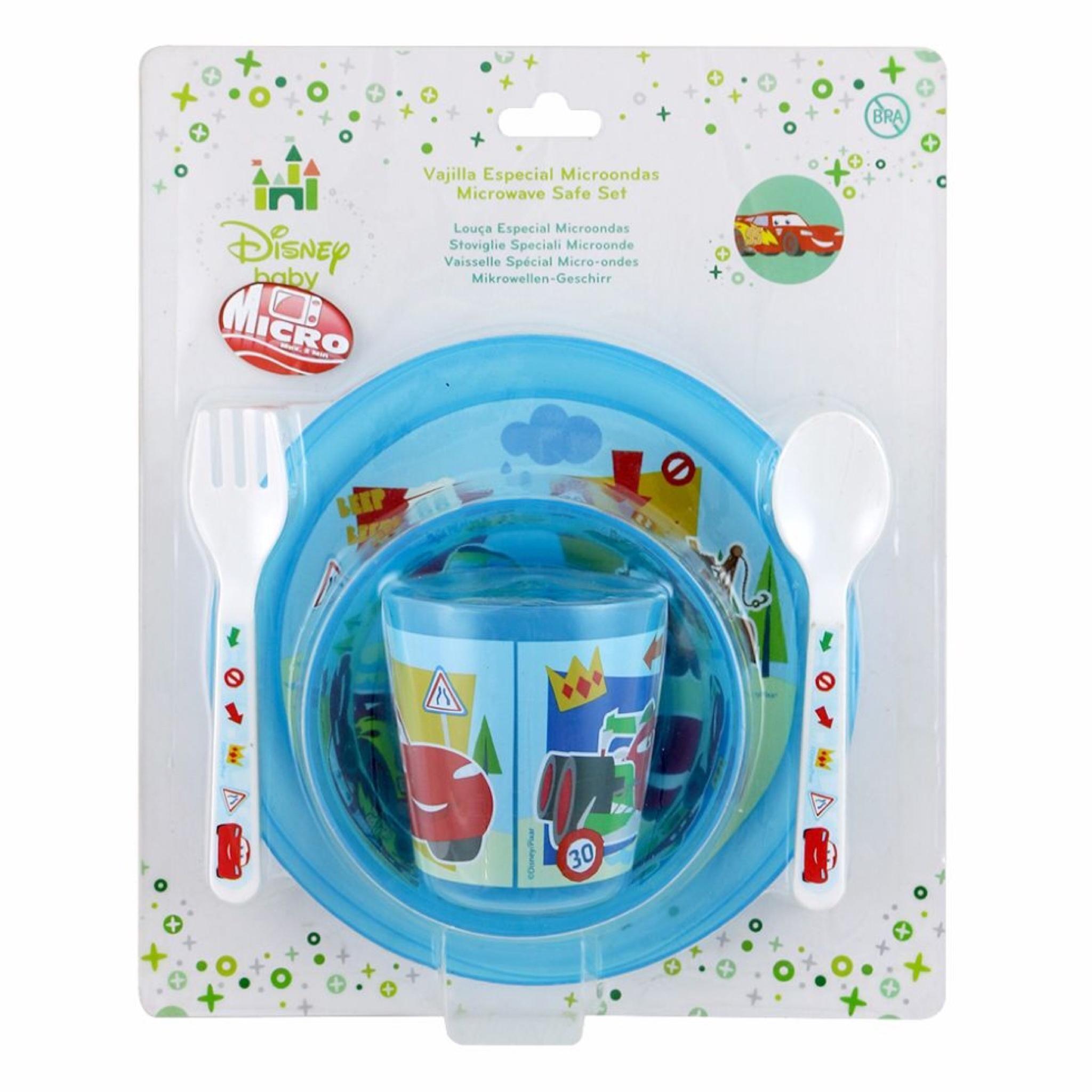 ชุดรับประทานอาหารสำหรับเด็ก Disney Baby Microwave Safe Baby Set (Cars)
