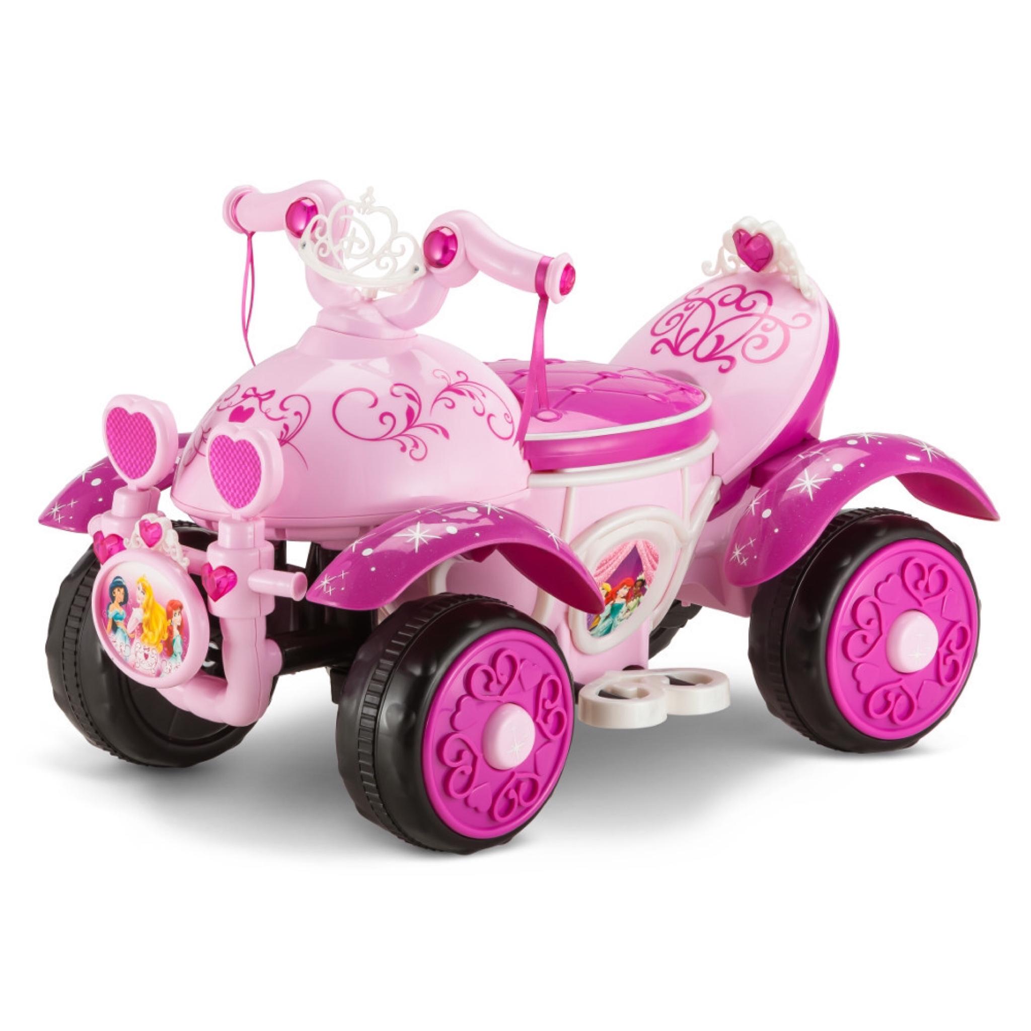 รถ ATV แบตเตอรี่แสนหวาน Kid Trax Disney Princess 6 Volt Quad Powered Ride-On