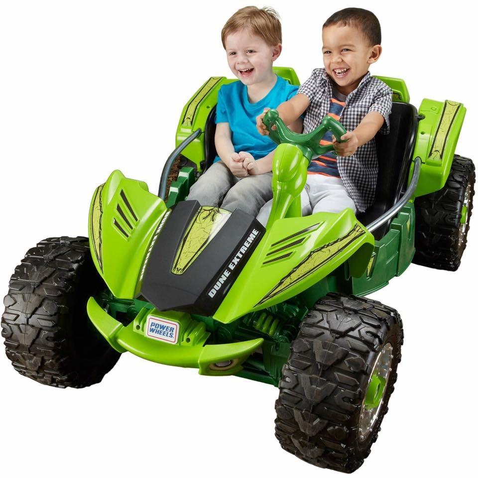 รถแบตเตอรี่ ATV คันยักษ์แบบ 2 ที่นั่ง Fisher-Price Power Wheels Dune Racer Extreme 12-Volt Battery-Powered Ride-On (Monster Green)
