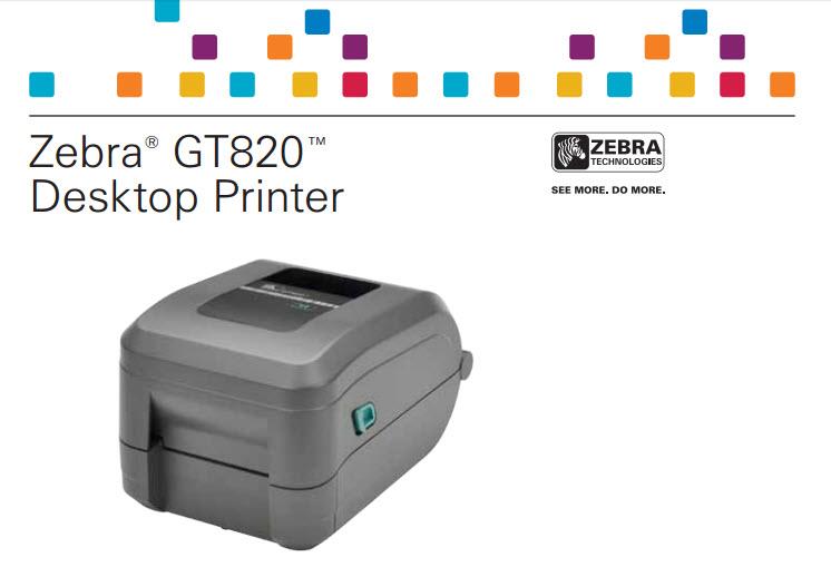 เครื่องพิมพ์บาร์โค้ด Zebra 820