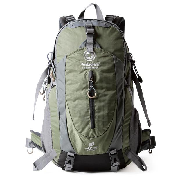 NL22 กระเป๋าเดินทาง Pentagram สีเขียวทหาร ขนาดจุสัมภาระ 50 ลิตร (เสริมโครง)