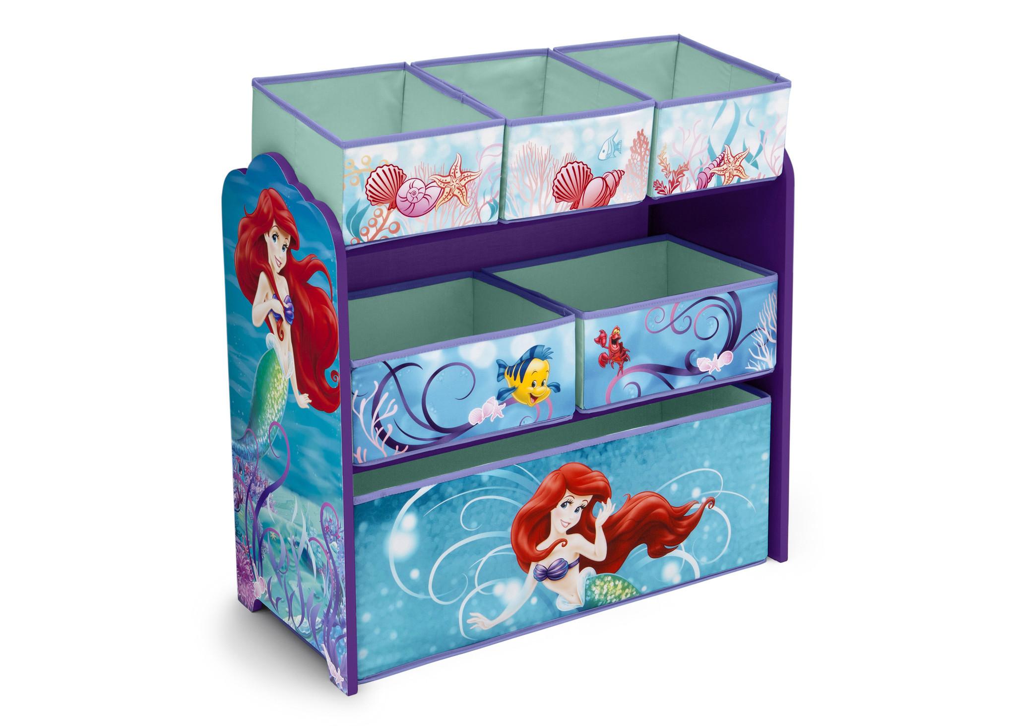 ชั้นเก็บของเล่นสำหรับลูกน้อย Delta Children Multi-Bin Toy Organizer (Disney The Little Mermaid)