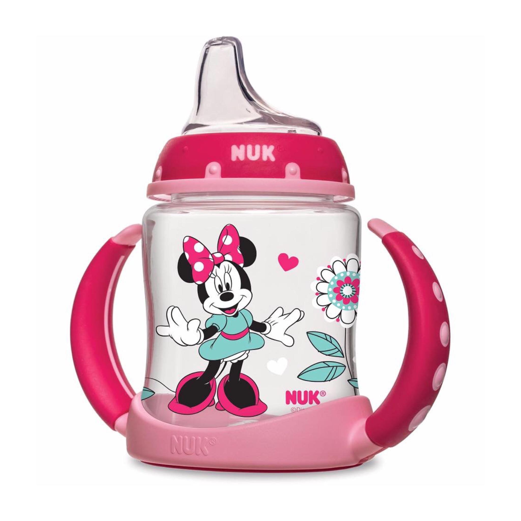 ถ้วยหัดดื่มปลอดสารพิษ Nuk 5-oz Learner Cup, Silicone Spout, BPA Free (Minnie Mouse)