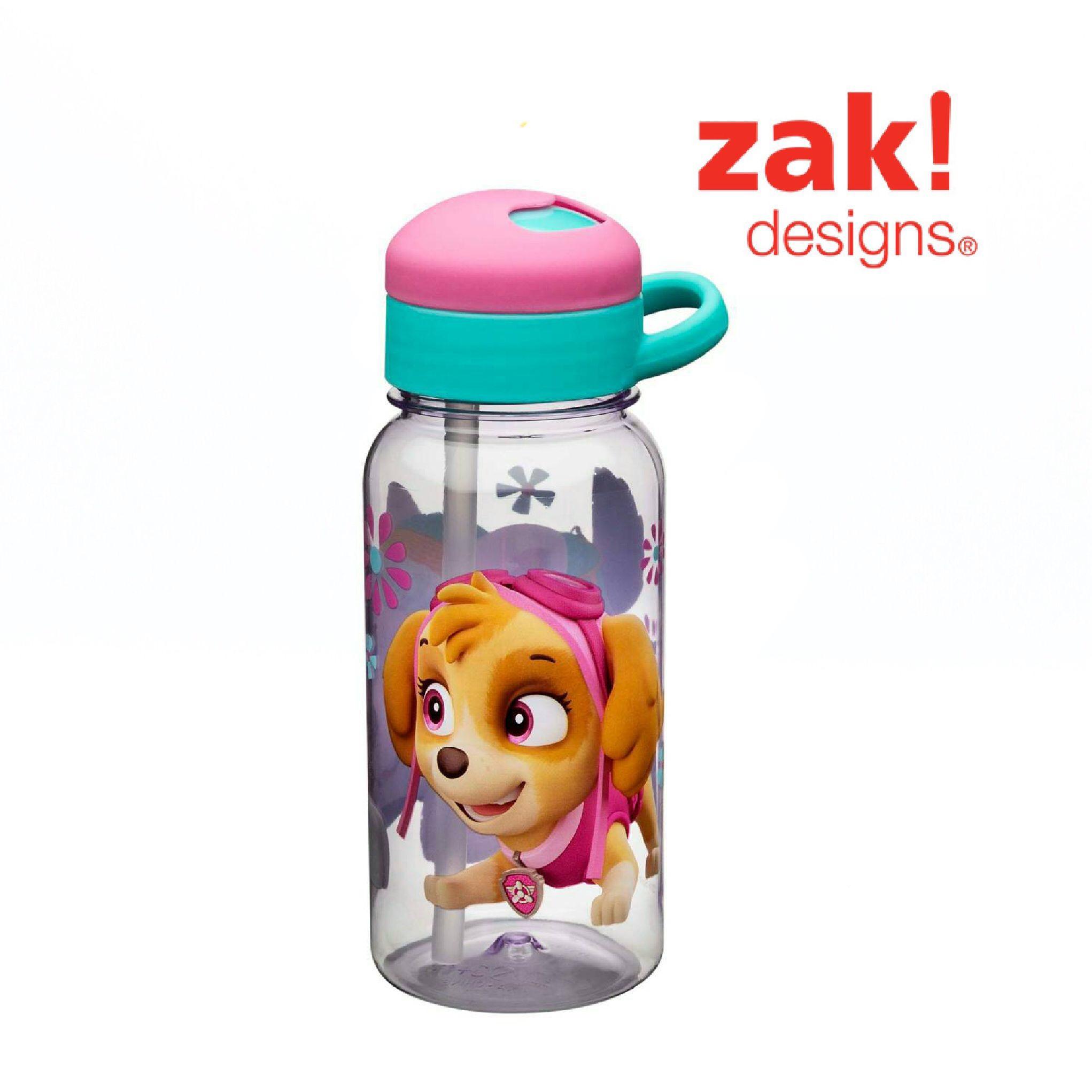 กระติกน้ำแบบหลอดดูดสำหรับเด็ก Zak! Designs 14 Oz. Water Bottle with Straw (Paw Patrol - Skye)