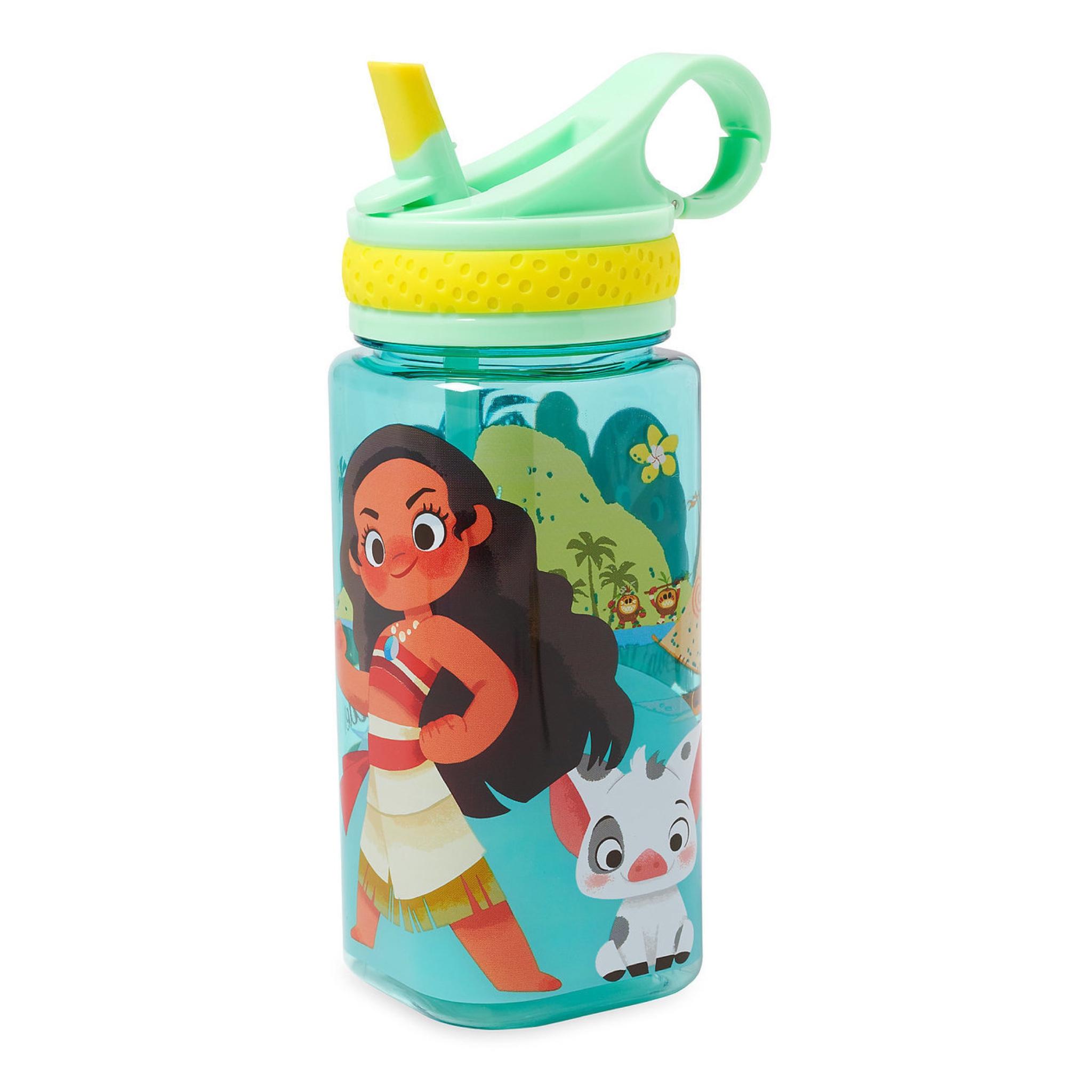 กระติกน้ำแบบหลอดดื่มสำหรับเด็ก Disney Water Bottle with Built-In Straw (Moana)