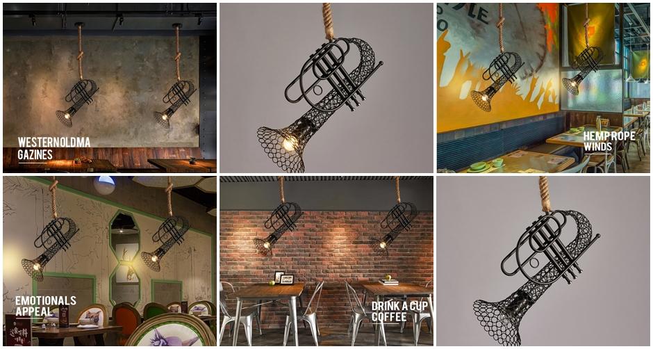 ตัวอย่างการติดตั้งโคมไฟ เครื่องดนตรี ลักษณะโคมไฟ