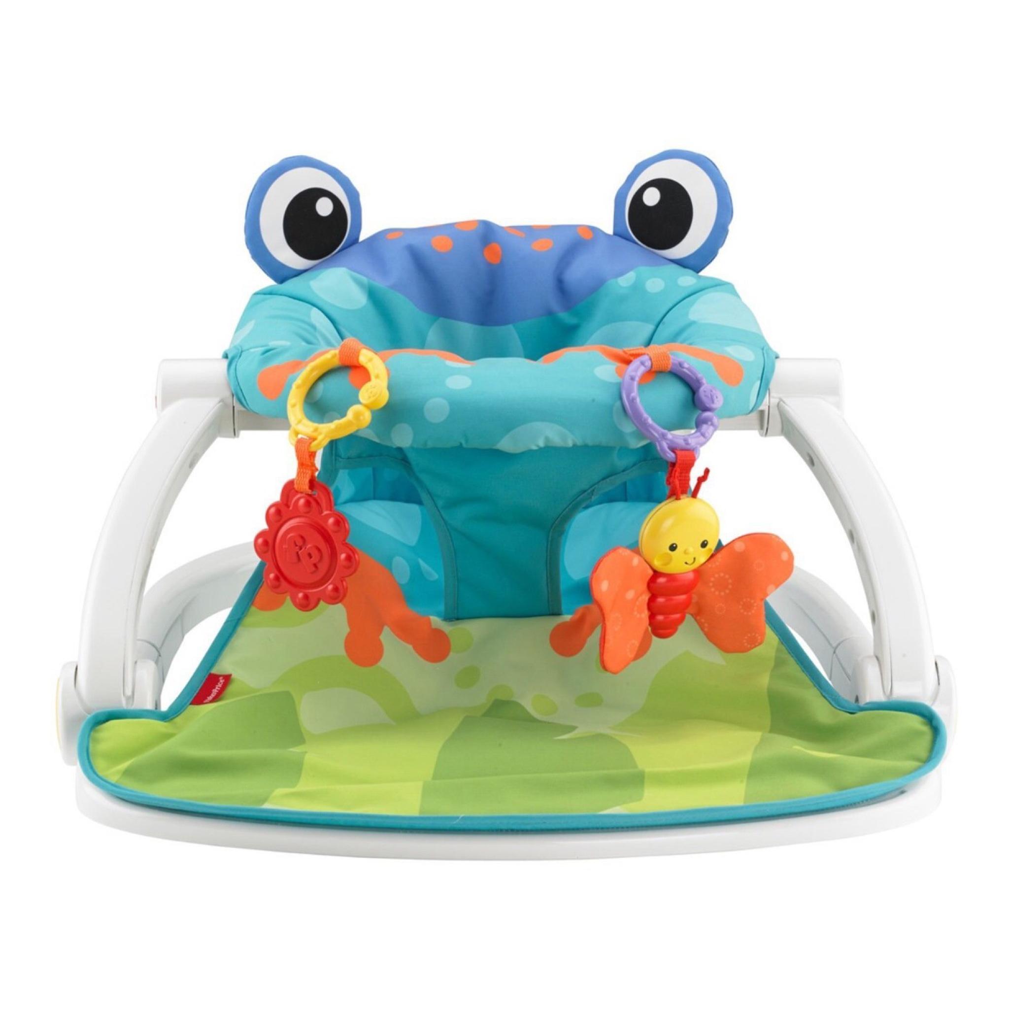 เก้าอี้แสนสนุกเสริมพัฒนาการ Fisher-Price Sit-Me-Up Floor Seat (Froggy Edition)