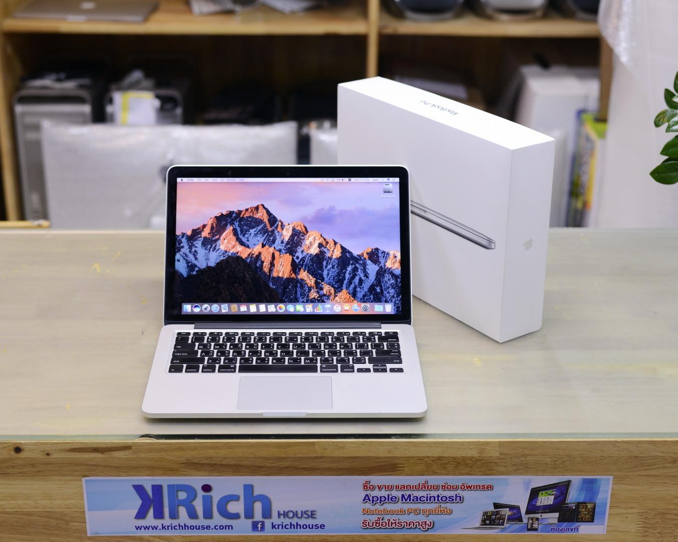 MacBook Pro (Retina, 13-inch, Late 2013) Core i5 2.4GHz RAM 8GB SSD 256GB - Fullbox