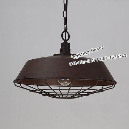 โคมไฟห้อยเพดานสไตล์ลอฟ สีสนิม