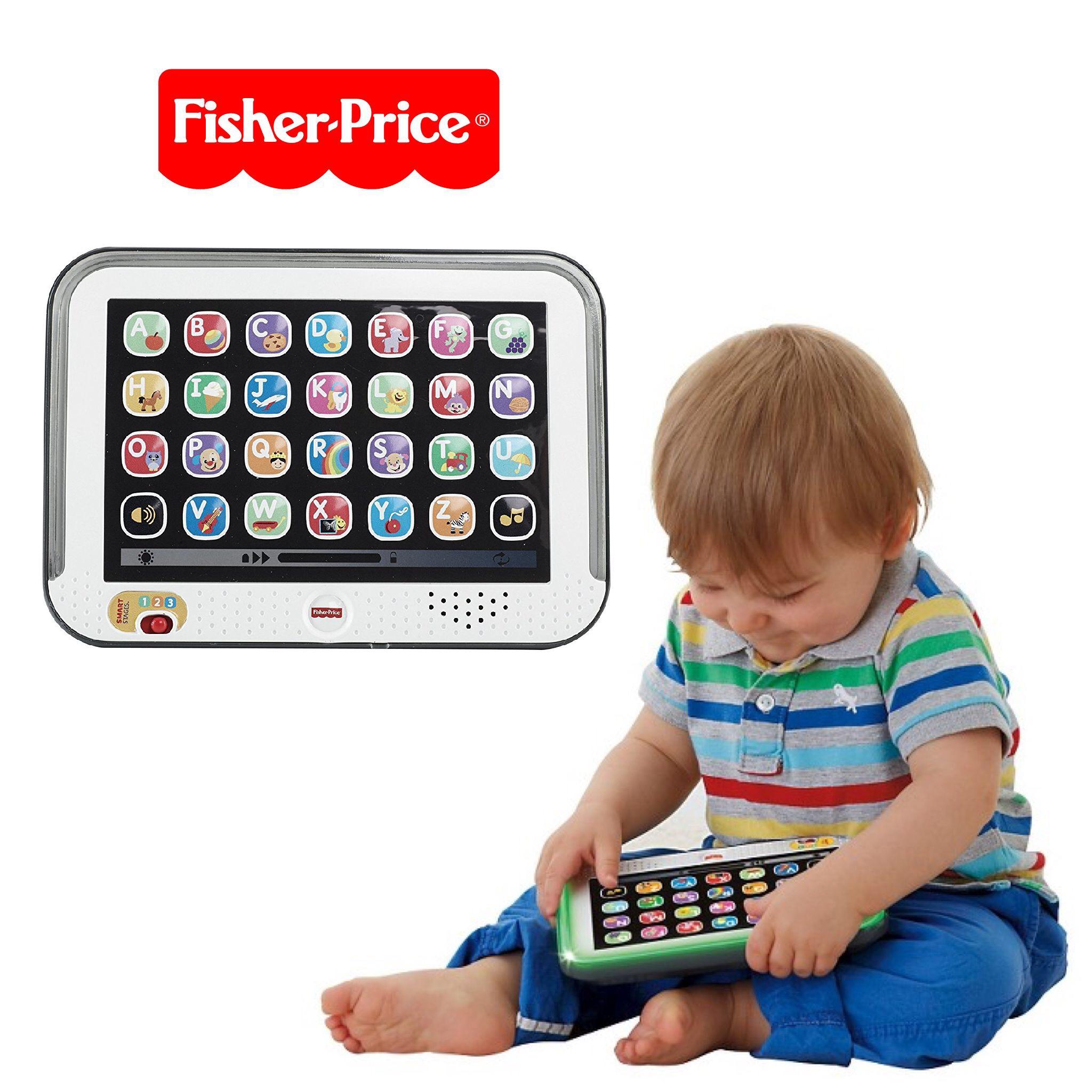 แทปเล็ทมหัศจรรย์สำหรับเด็ก Fisher-Price Laugh & Learn Smart Stages Tablet (Grey)
