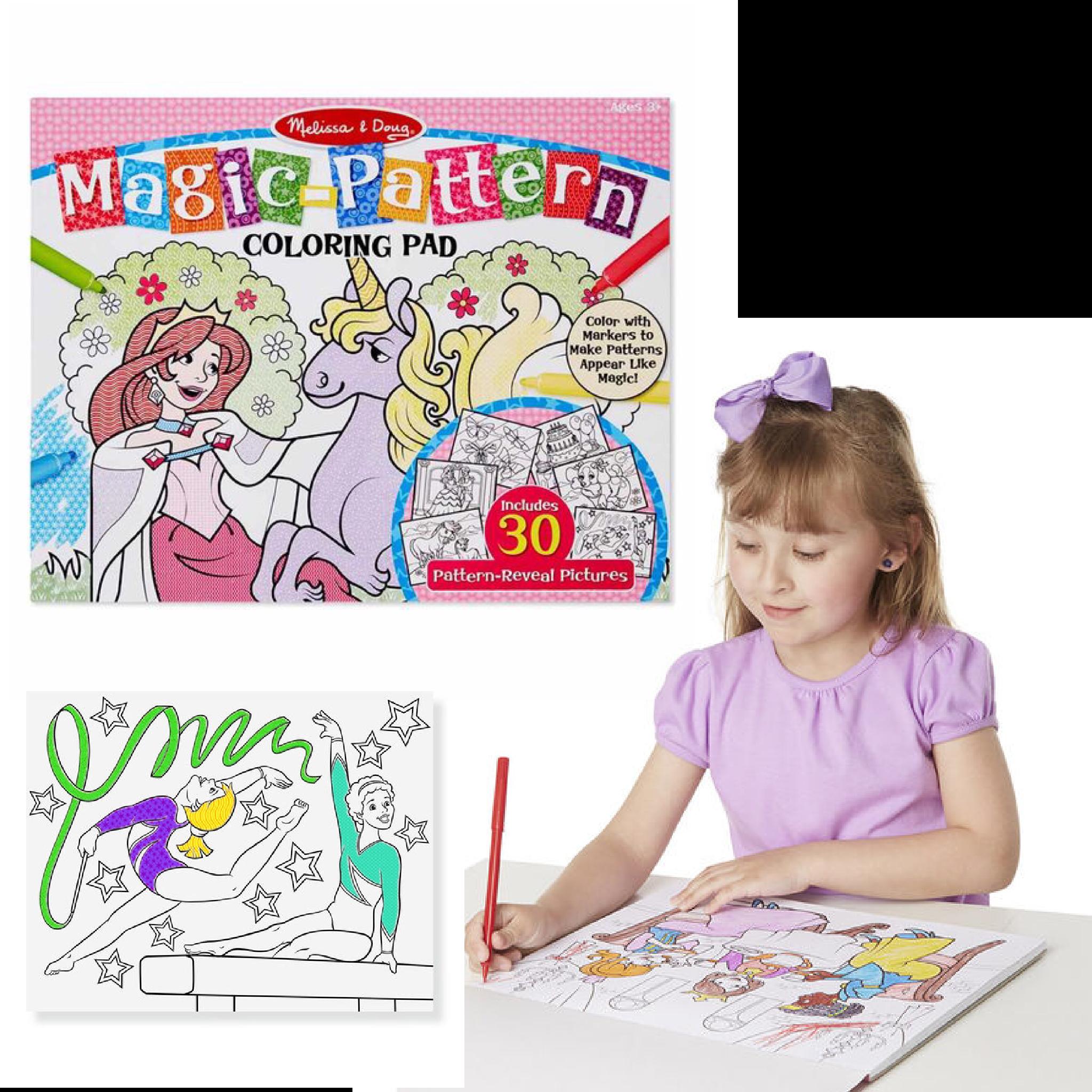 แผ่นภาพระบายสีมหัศจรรย์ Melissa & Doug รุ่น Magic Pattern Marker Coloring Pad (Pink)
