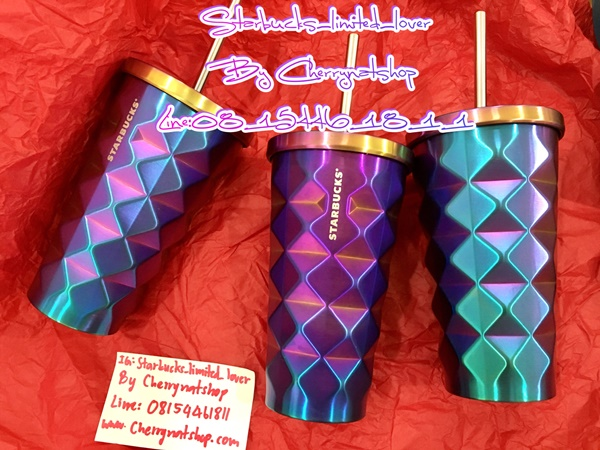 Starbucks Stainless Steel Chiseled Iridescent PURPLE RAINBOW Cold Cup RARE บู้บี้ม่วงประกายรุ้ง