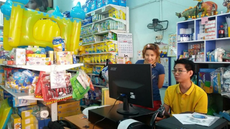 โปรแกรมควบคุมสต็อกและระบบขายสินค้าหน้าร้านที่ร้าน บ้านเด็กนมผง