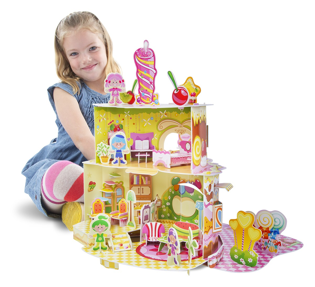 บ้านตุ๊กตาตัวต่อสุดน่ารัก Melissa & Doug 3D Puzzle & Dollhouse (Home Sweet Home)